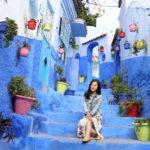摩洛哥藍色小鎮//Chefchaouen舍夫沙萬,五百種迷幻的藍