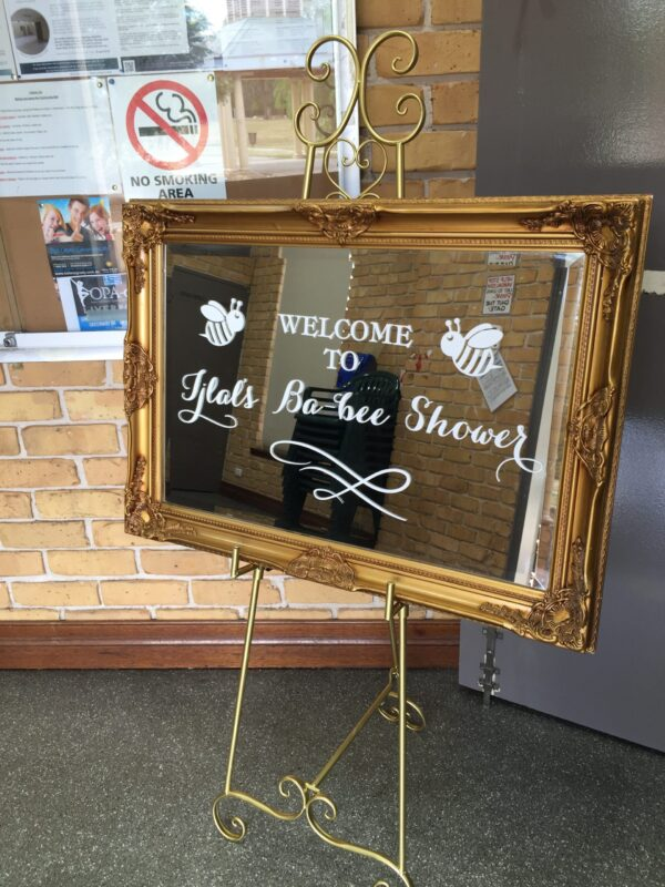 Gold Mirror with Easel