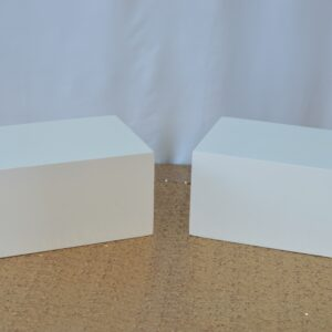 Rectangle White Risers