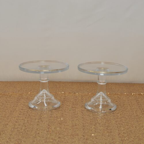 Clear Mosser Cake Stand