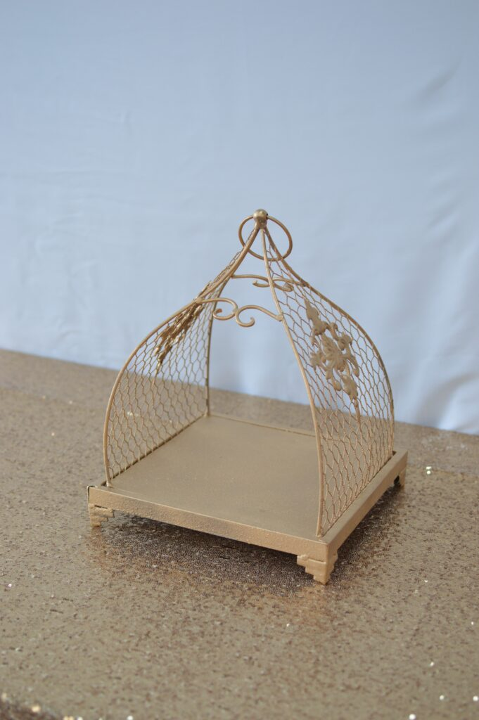 Vintage Gold Cage Tray