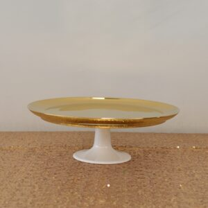 Gold Low Cake Stand