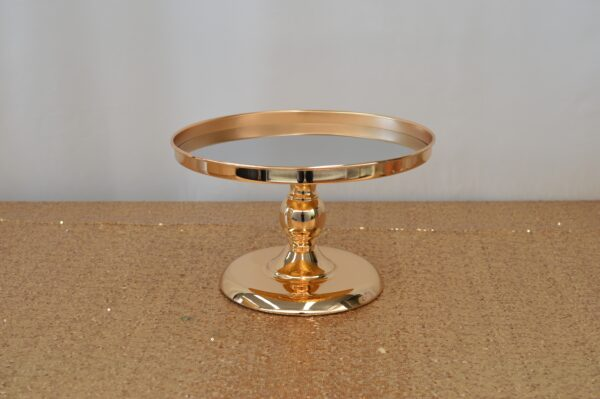Gold Mirror Cake Stand
