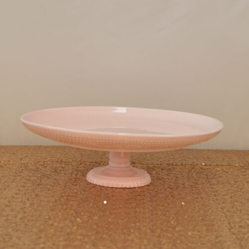 Low Pink Cake Stand