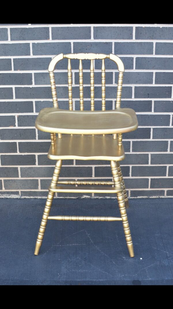 Gold Vintage High Chair