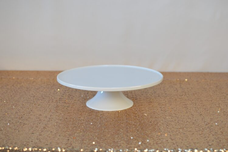 White Low Cake Stand