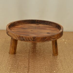Large Wooden Cake Stand
