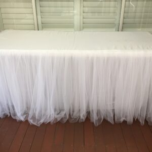 White Tulle Tablecloth