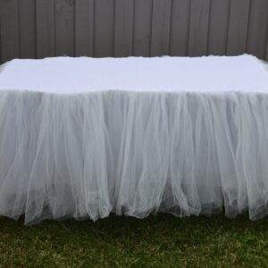 Childrens White Tulle Tablecloth