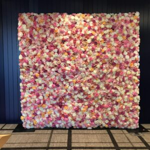 Mixed Pink Flower Wall