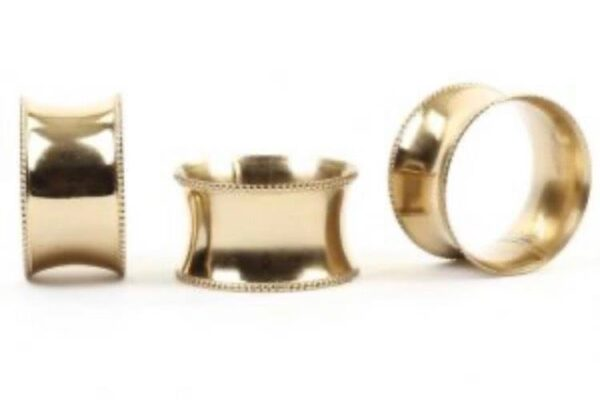 Solid Gold Napkin Rings