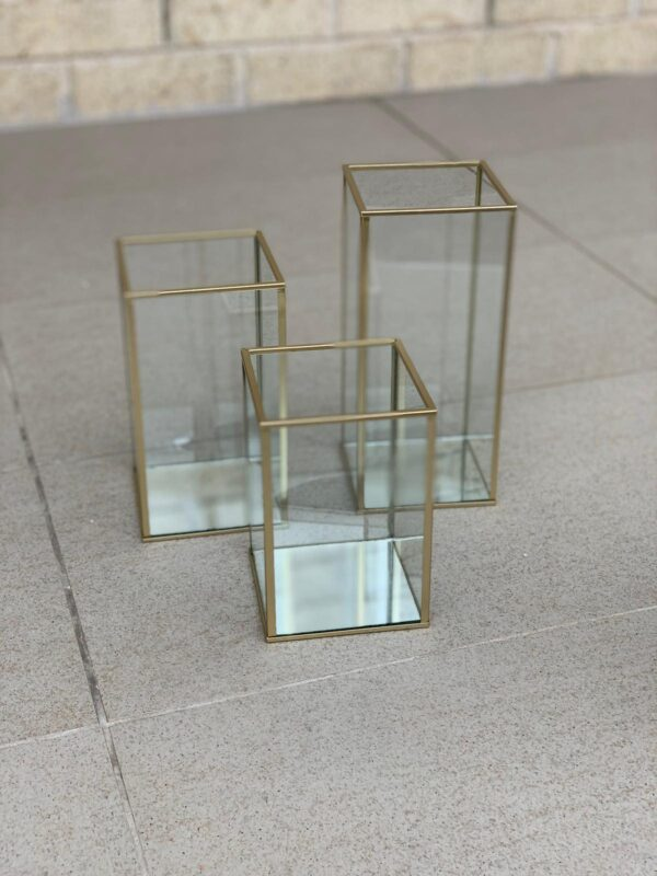 Gold Rimmed Candle Holders