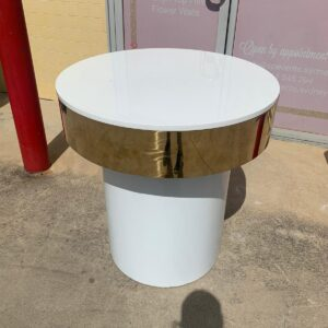 Gold Rimmed Cake Table