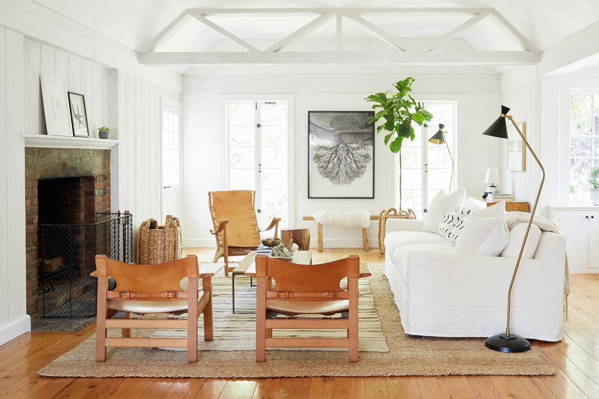 Jenni Kayne Living Room Makeover   One Kings Lane   Urban Earthy Interiors