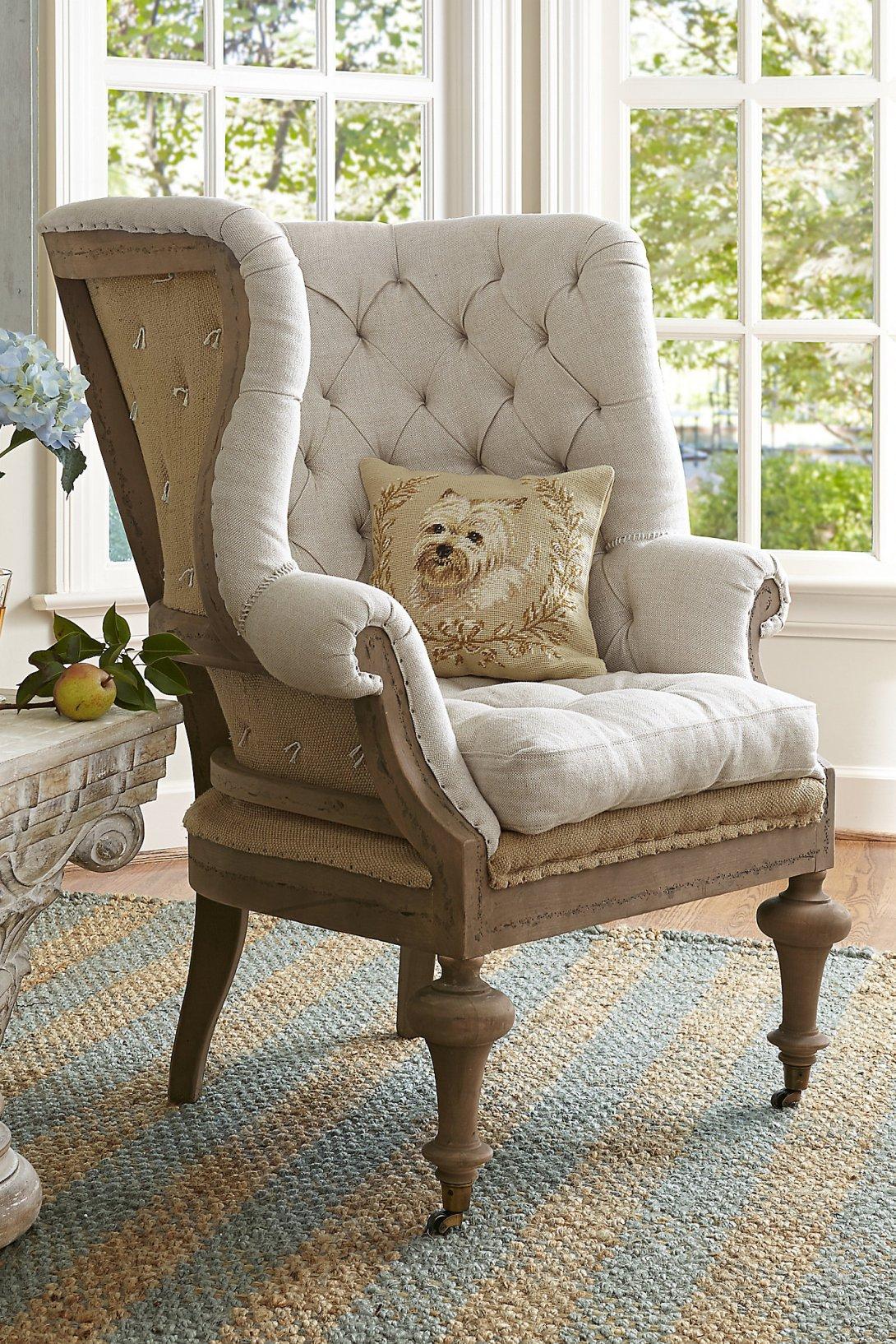 Linen Wing Chair