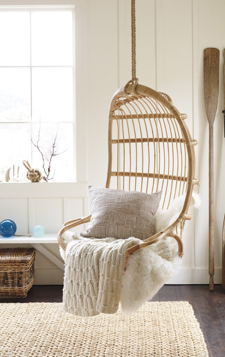 Chair & Sheepskin Throw