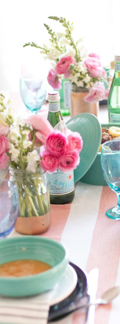 Easter Dinner Table Decorating