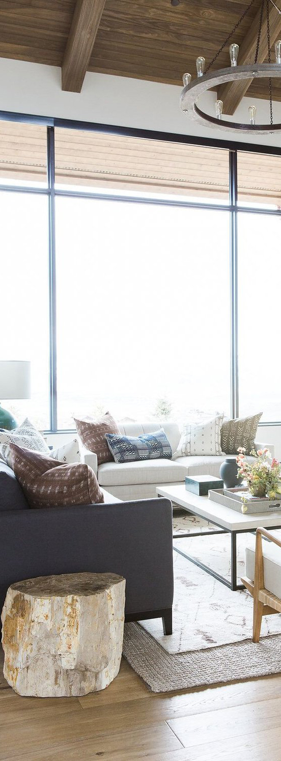 Studio McGee Promontory Project   Modern Mountain Home   Living Room