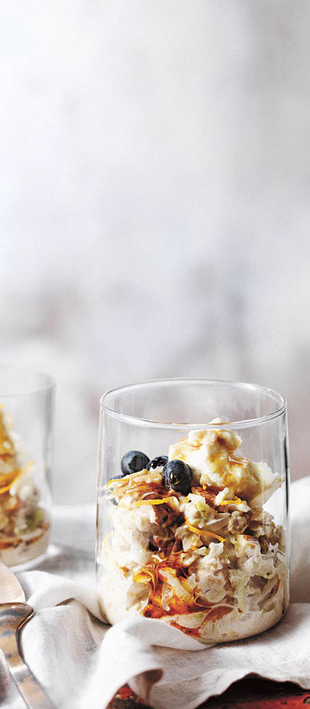 Cinnamon, Cardamom and Orange Zest Bircher Muesli