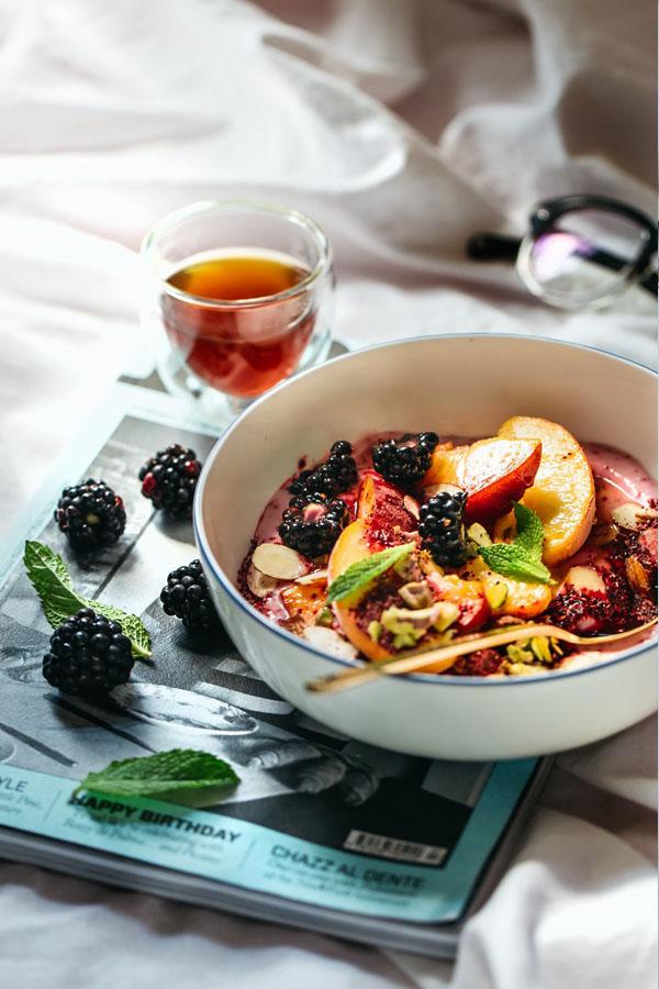Tangy Hibiscus Yogurt Breakfast Bowl