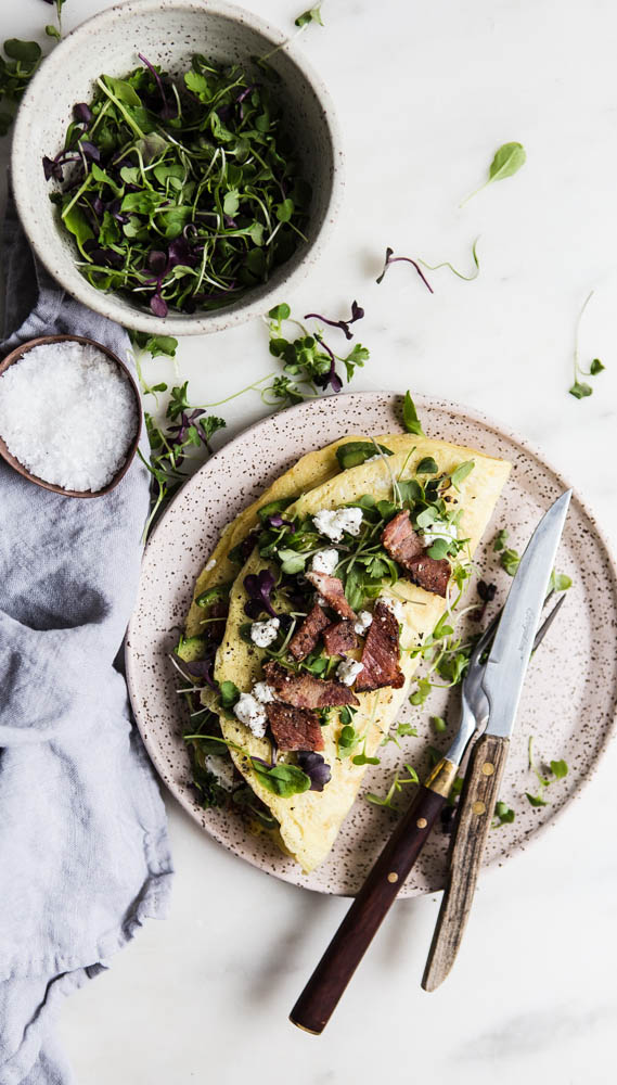 Avocado Chevre Omelette