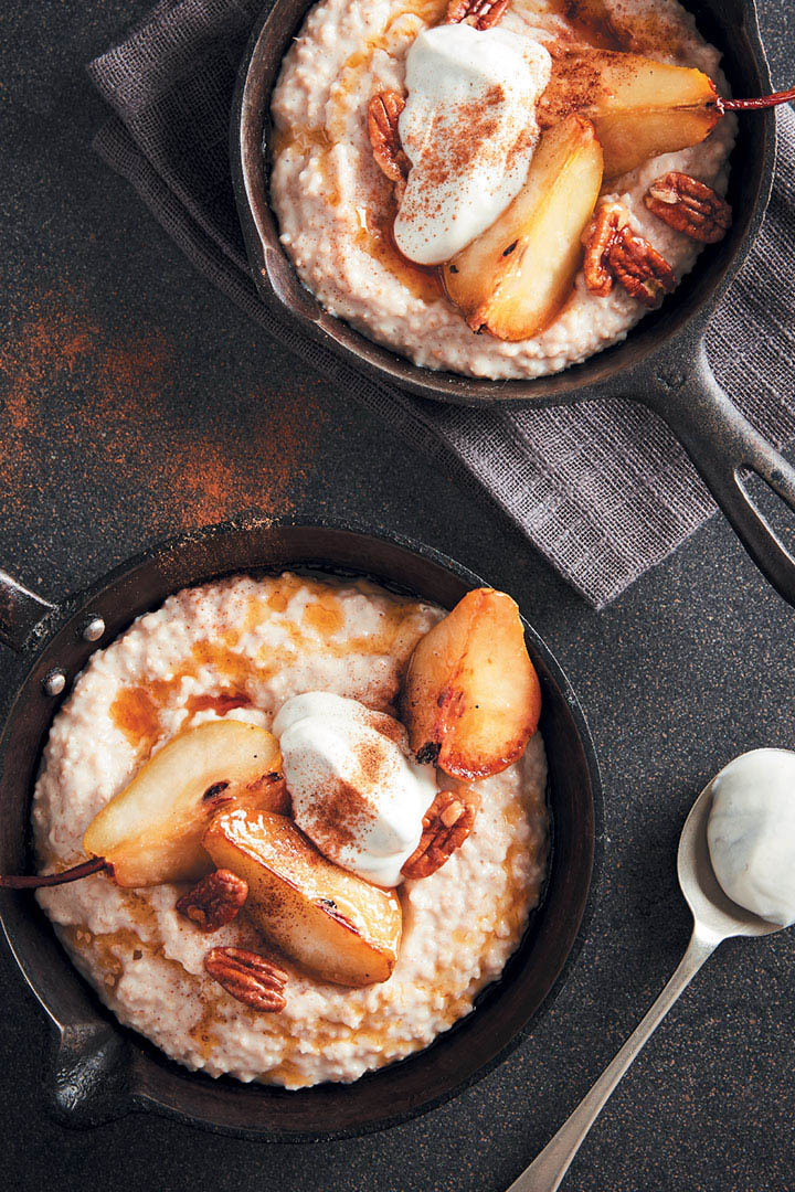 Caramelized Pear & Vanilla Bean Oats