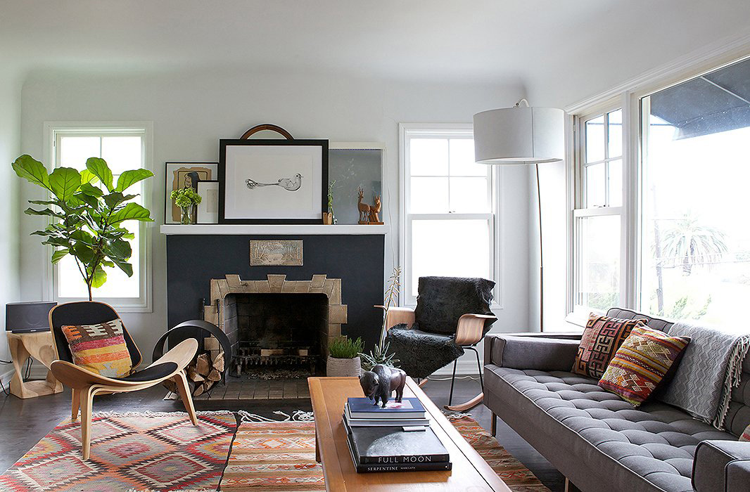 Bohemian Living Room | Amy Bartlam Photography