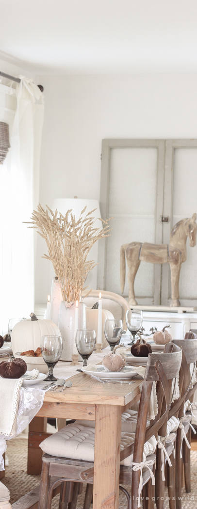 Fall Country Harvest Tablescape
