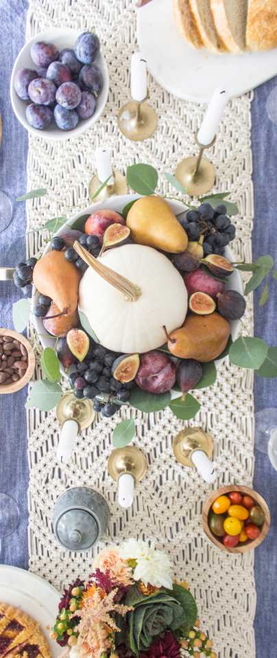 Fall Tablescape Using Fall Fruit