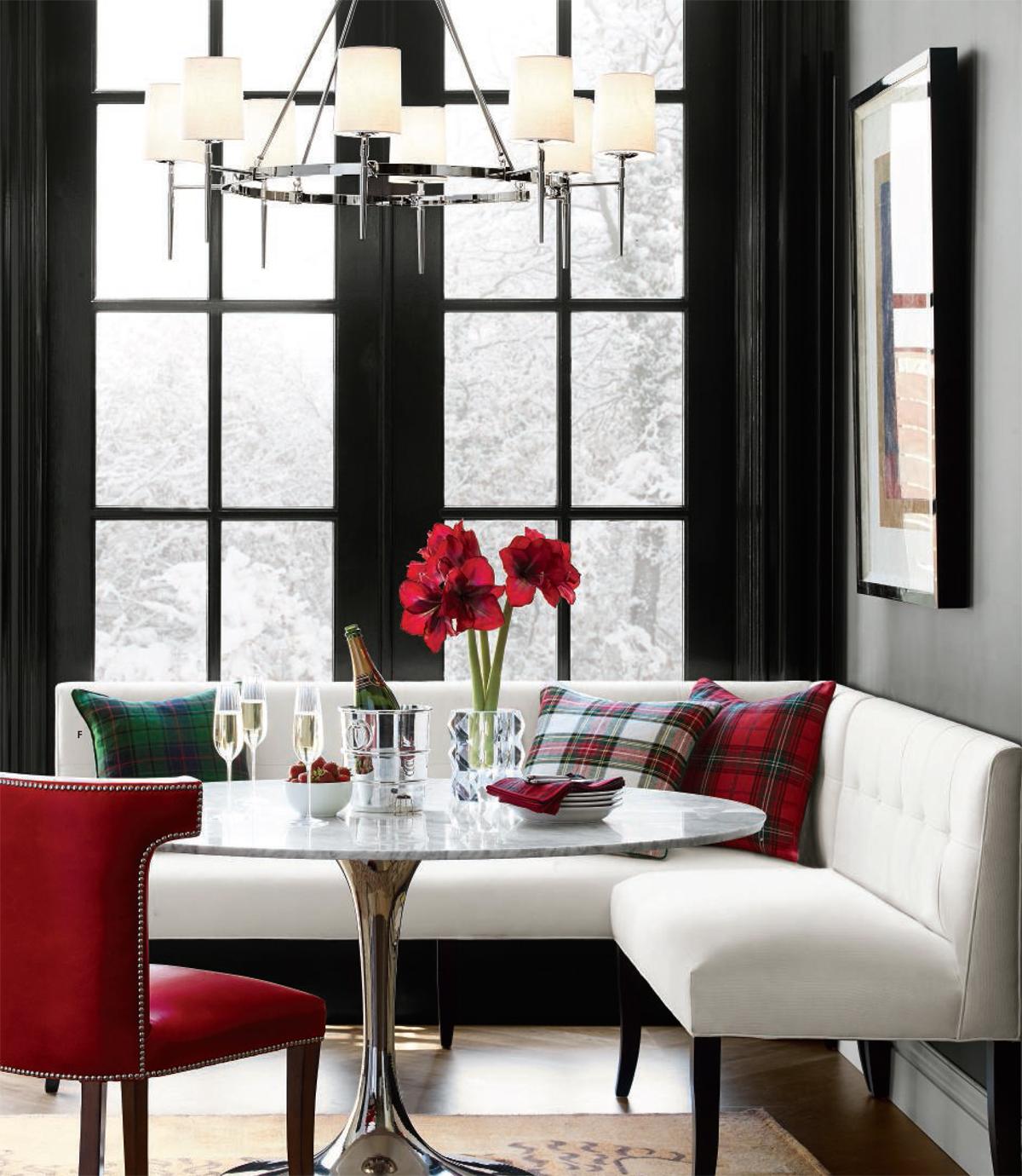 Modern Christmas in Black, White & Red