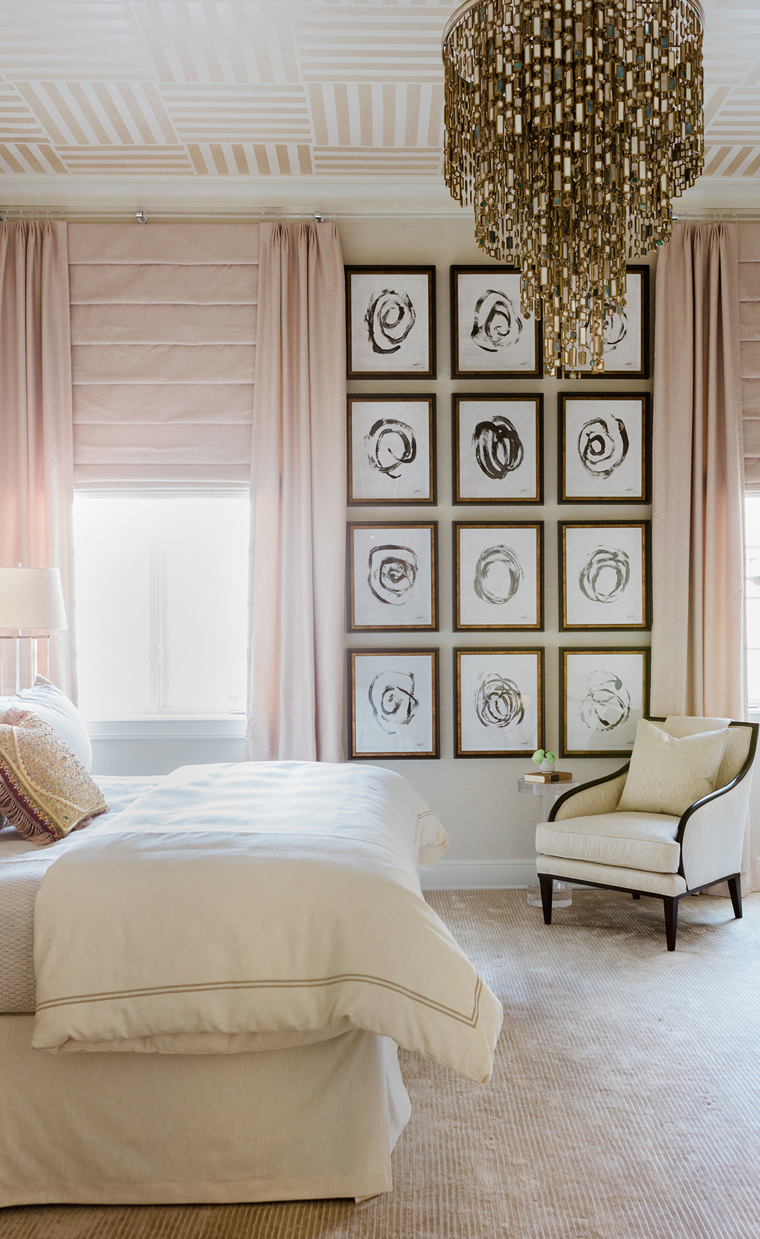 Anthony Michaels Design   Bedroom with Gallery Wall