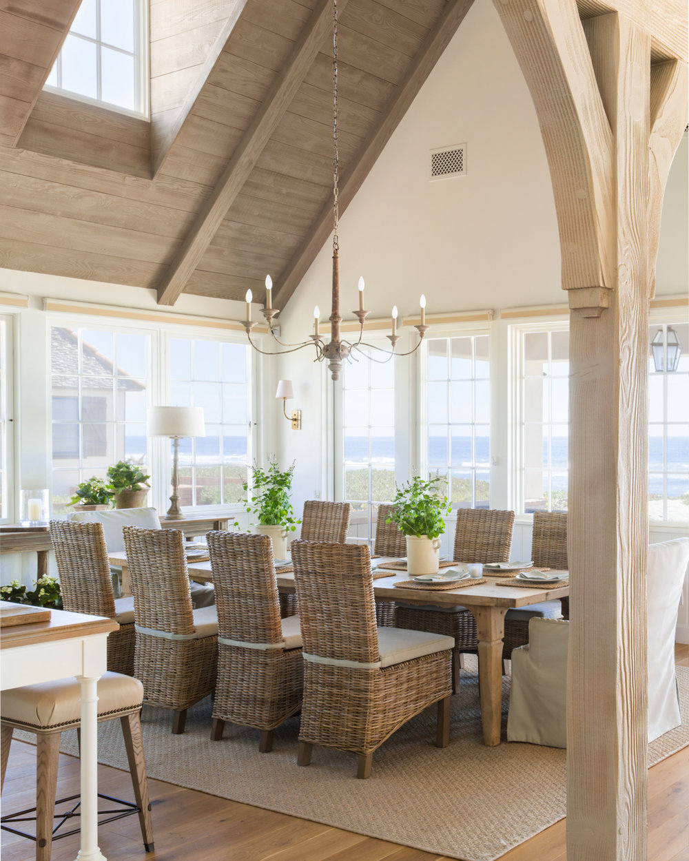 Gianetti Home Interiors | Coastal Dining Room Decorating Ideas