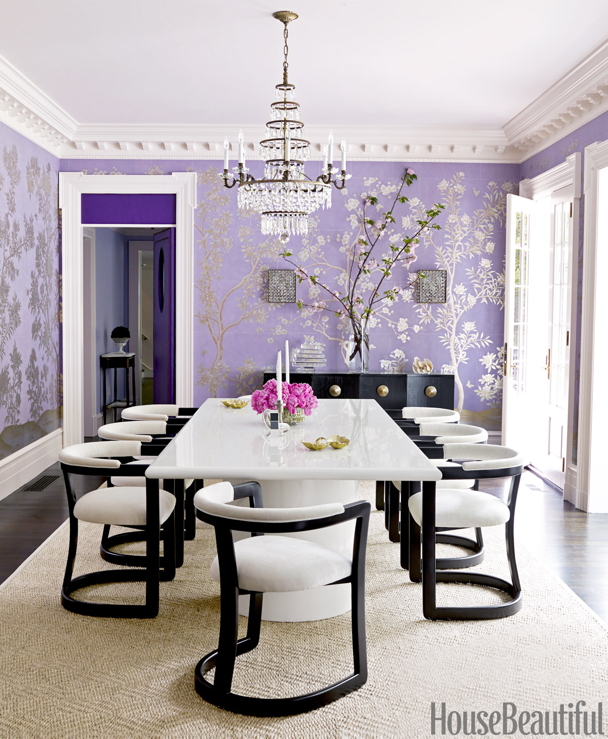 House Beautiful | Lavender Dining Room