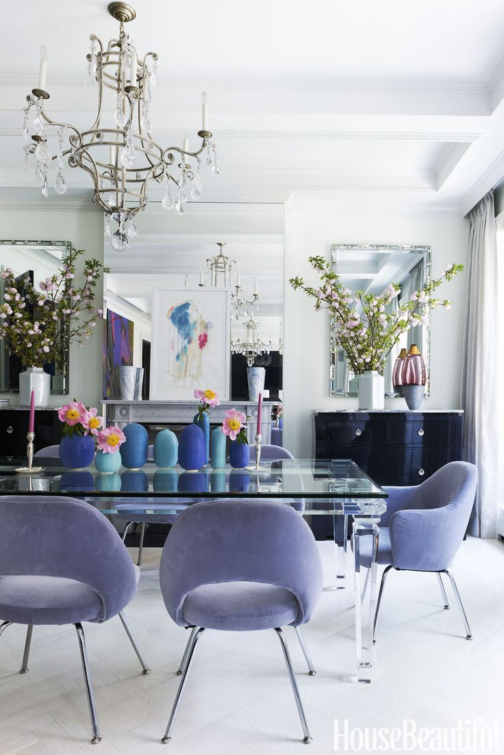 House Beautiful | Purple Dining Room
