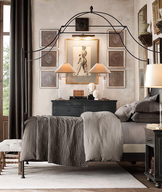 Restoration Hardware Eclectic Bedroom