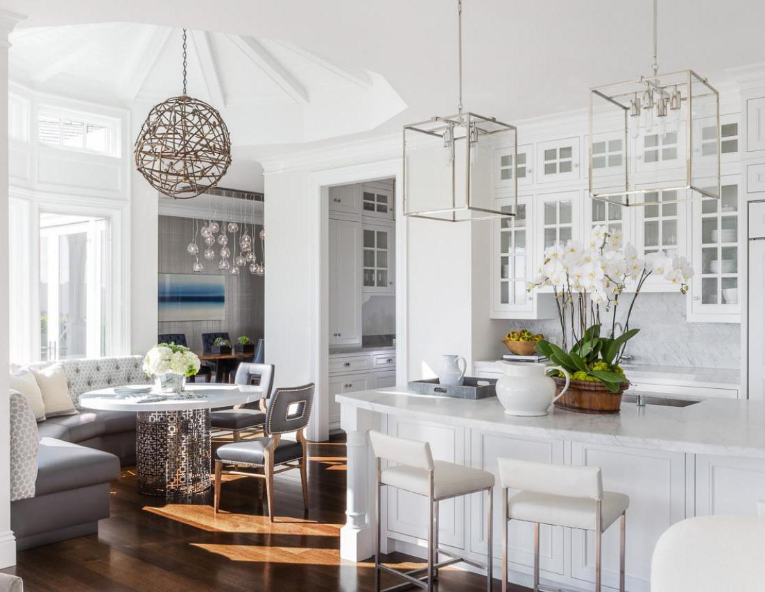 Glamorous White Kitchens