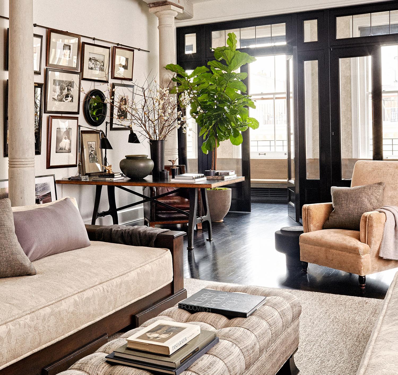 Meg Ryan's Eclectic Living Room