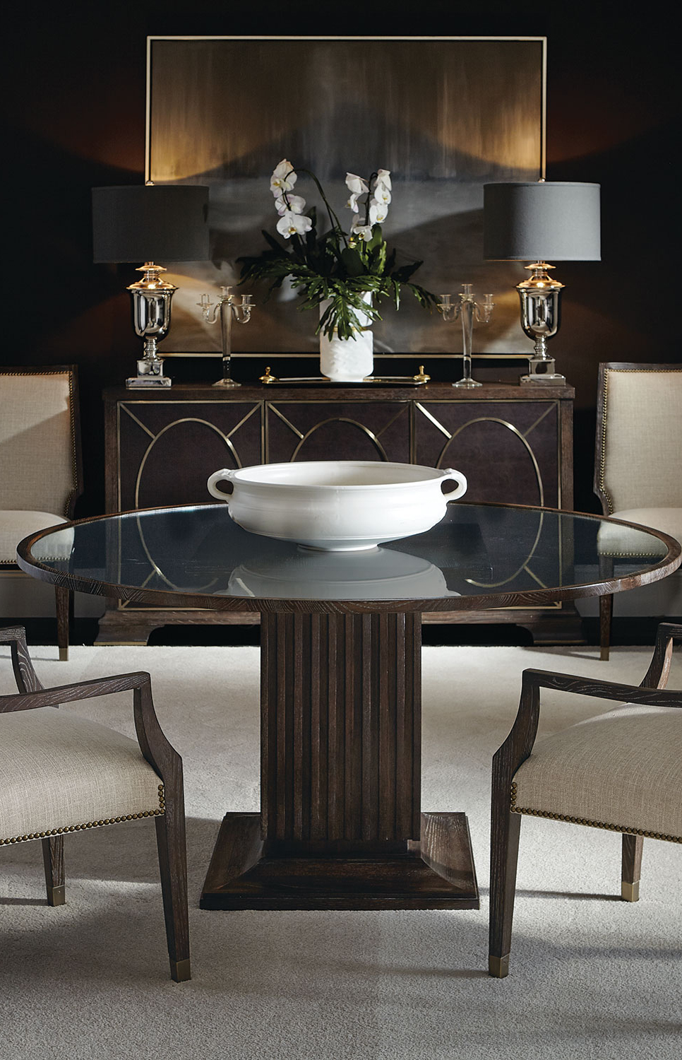 Sophisticated Black Dining Room