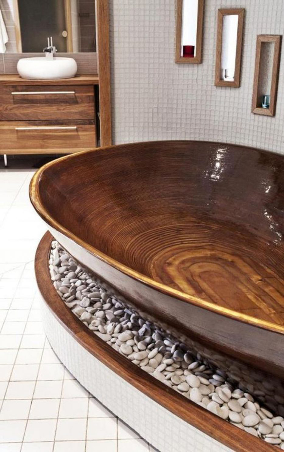 Beautiful Wood Bathtub