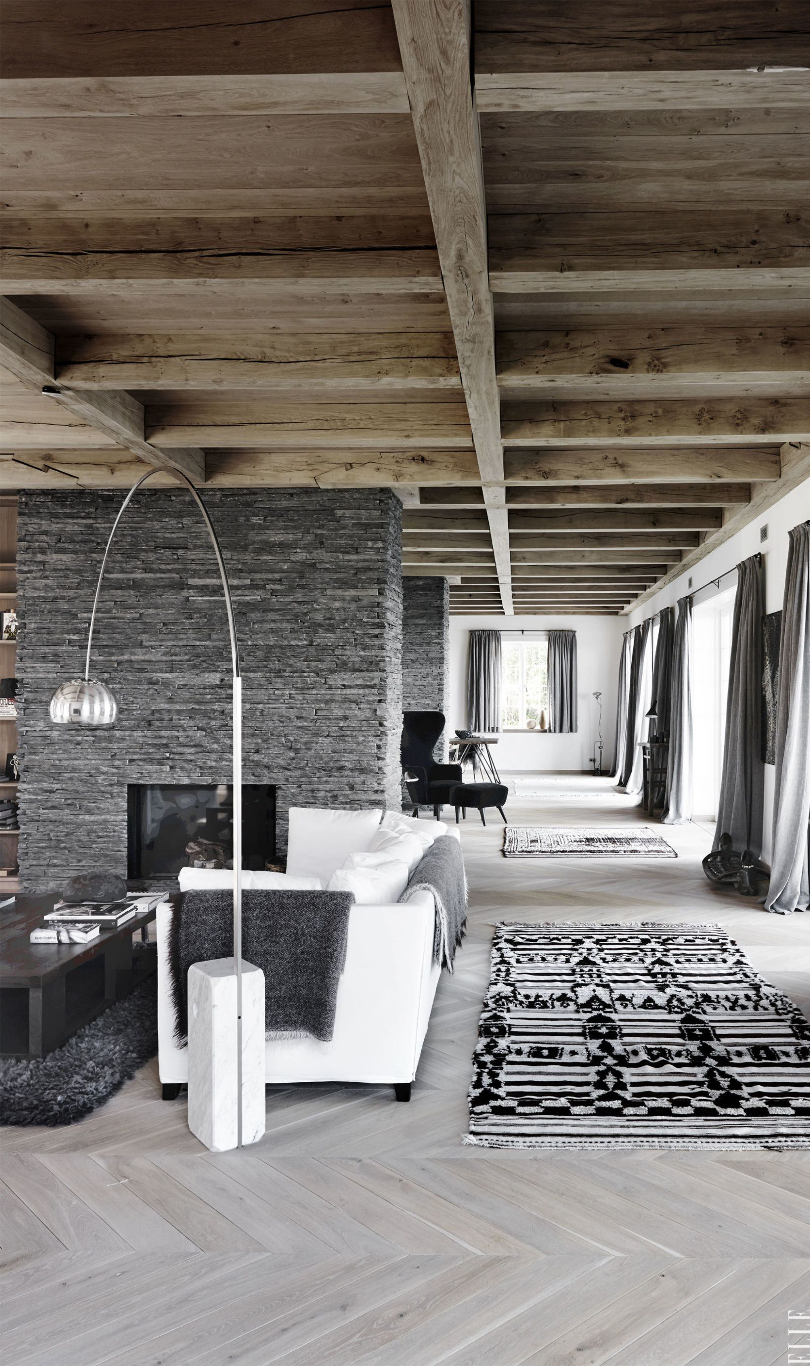 Black White and Gray Living Room