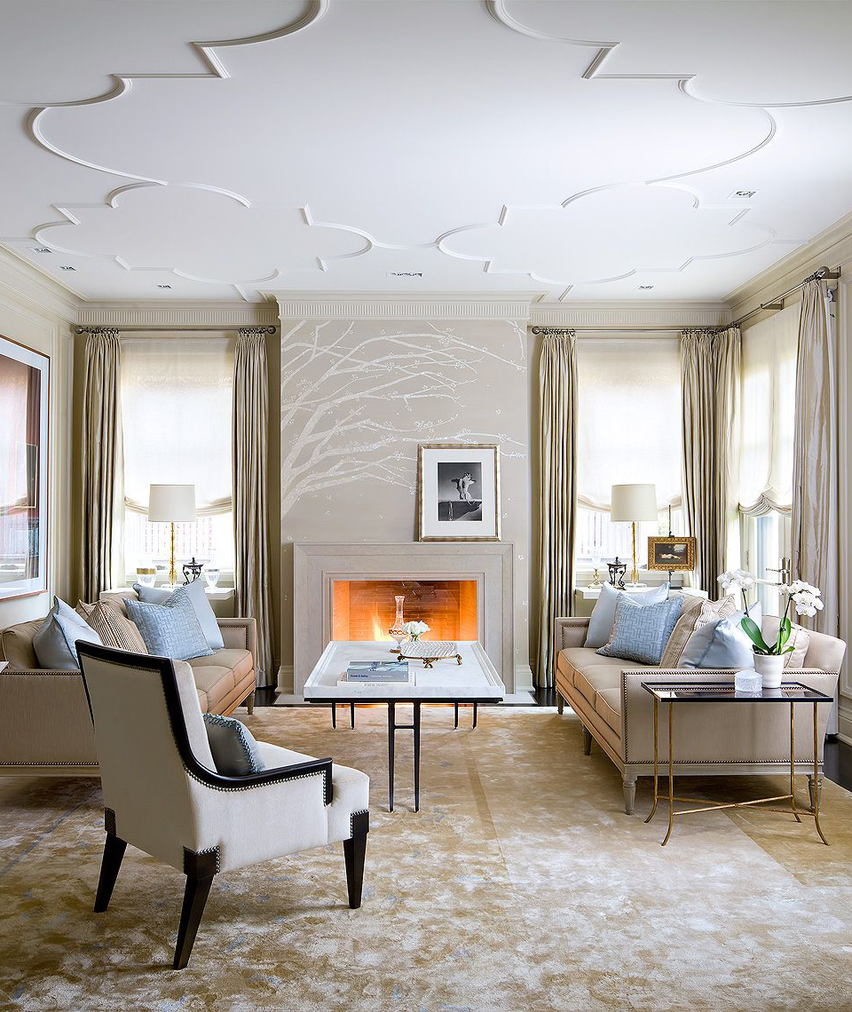 Traditional Living Room Designed by Brian Gluckstein