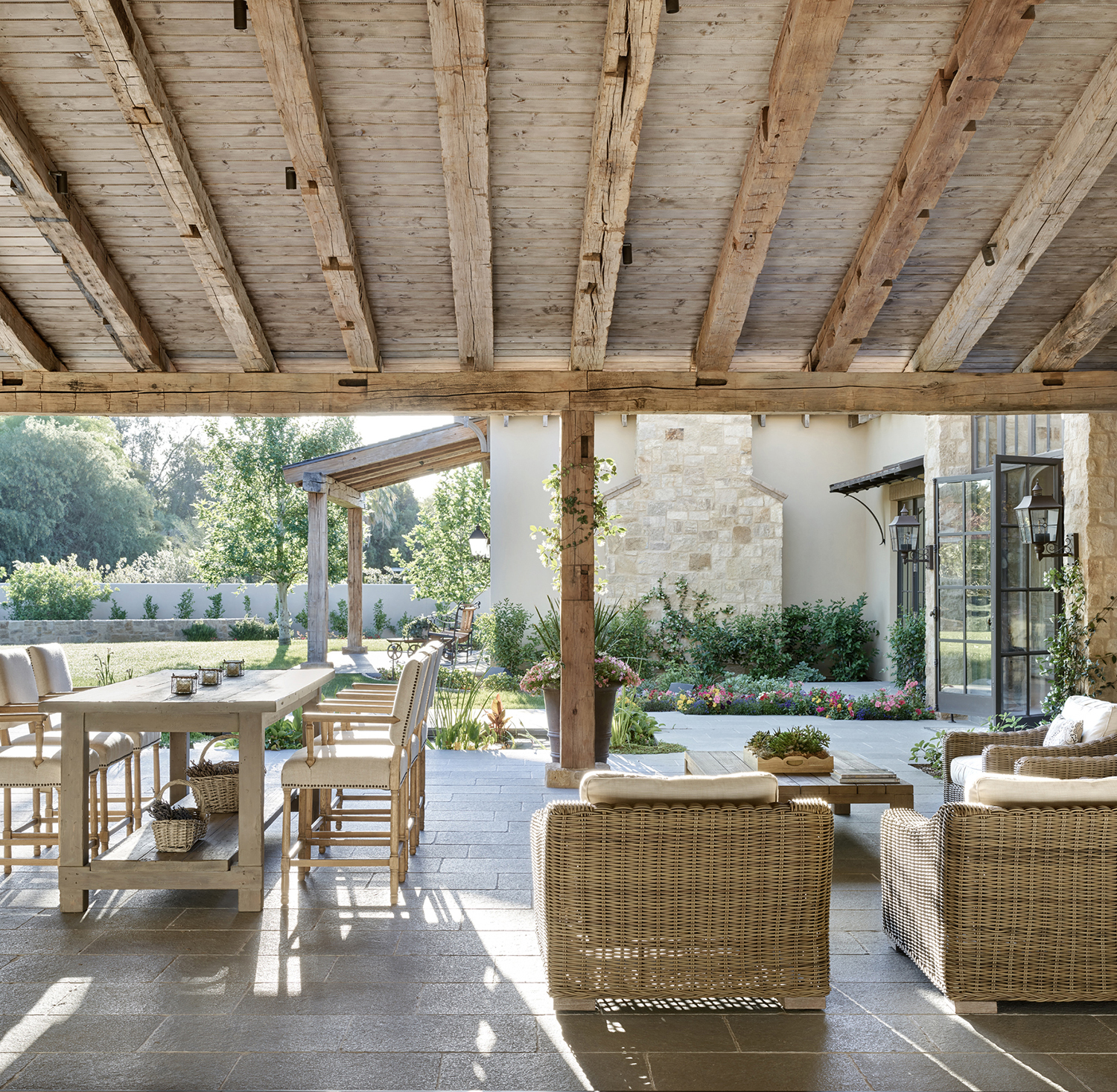 French Country Outdoor Area