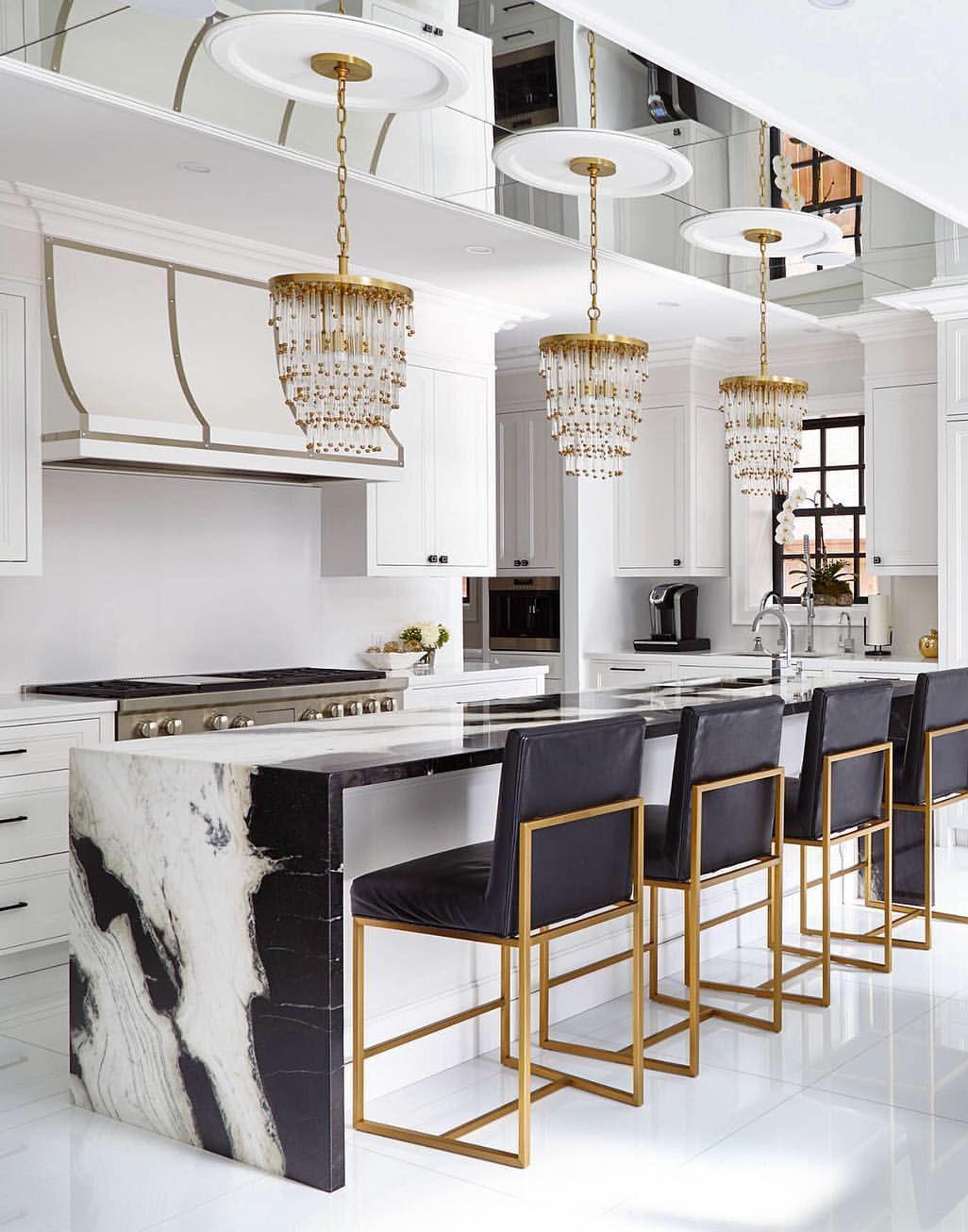 Contemporary Glamorous Kitchen