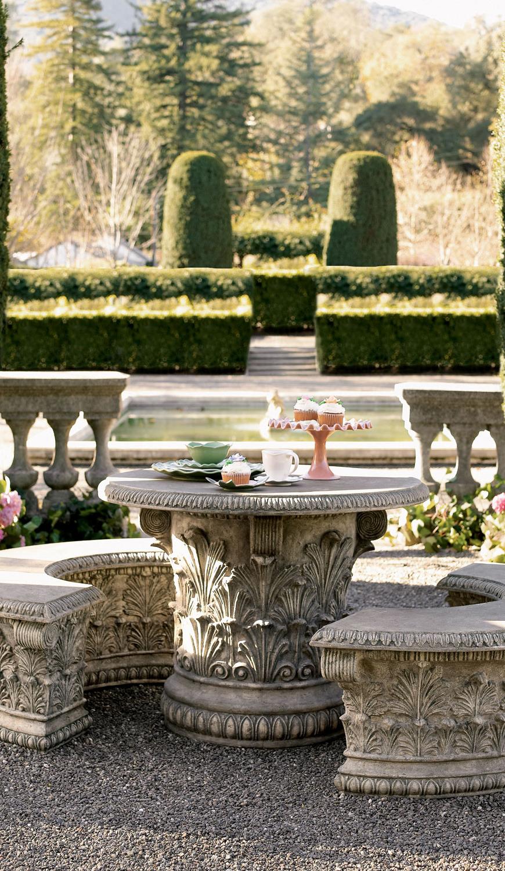 Roman Garden Table Bench
