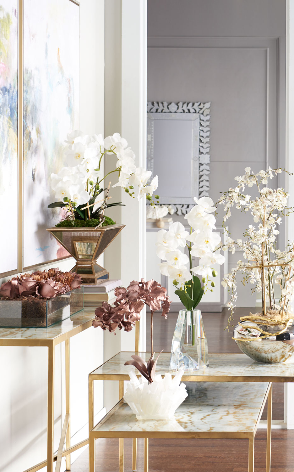 Dining Room Table Faux Florals