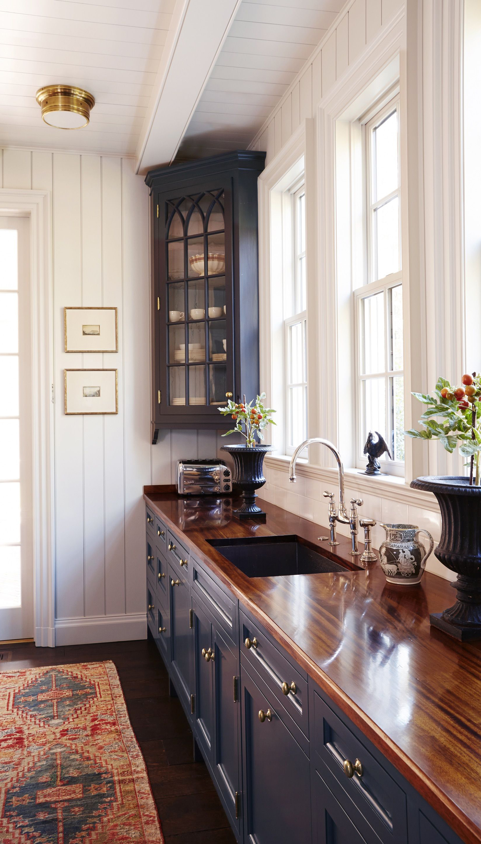 Kitchen with Blue Cabinets