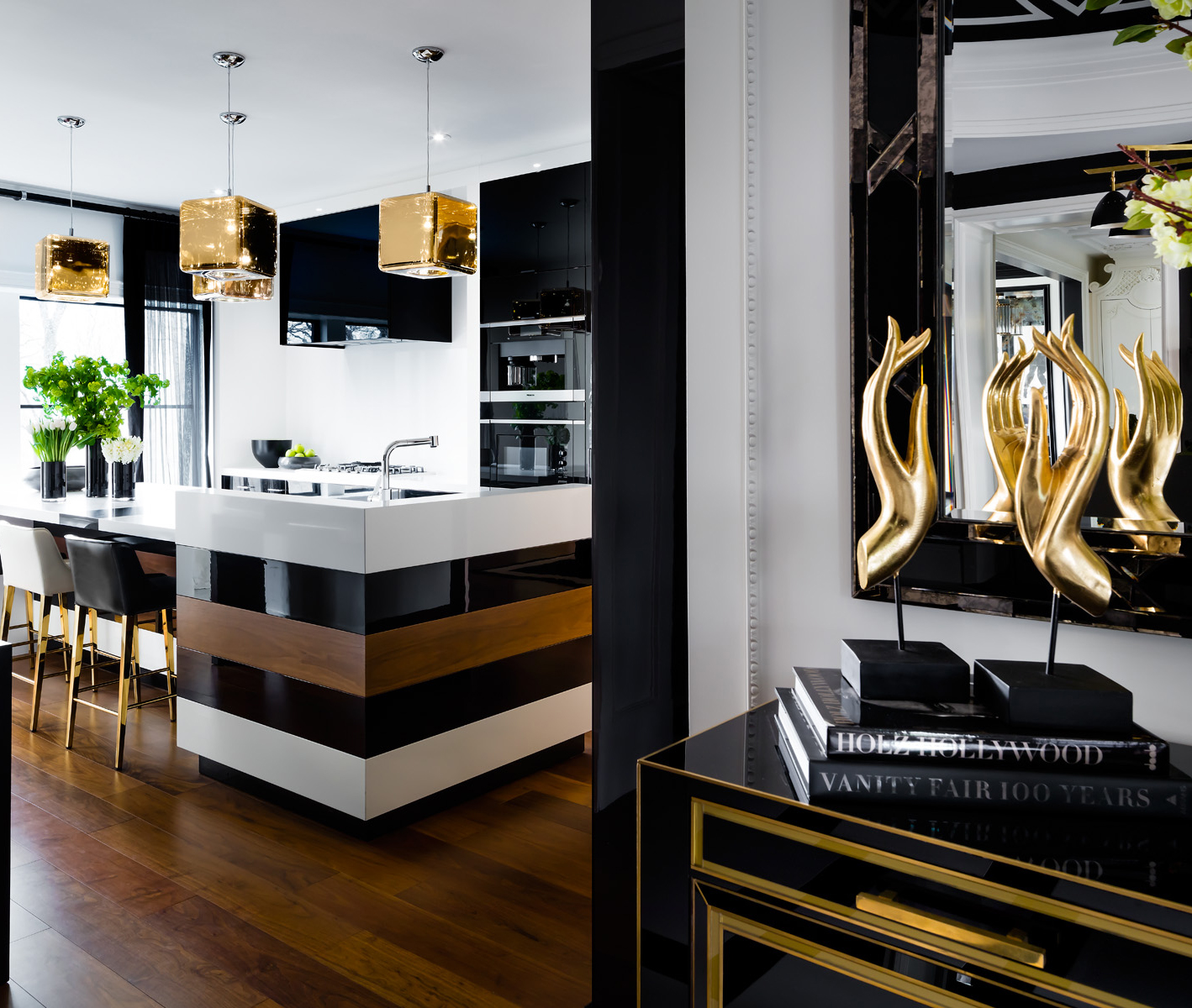 Modern Glam Kitchen