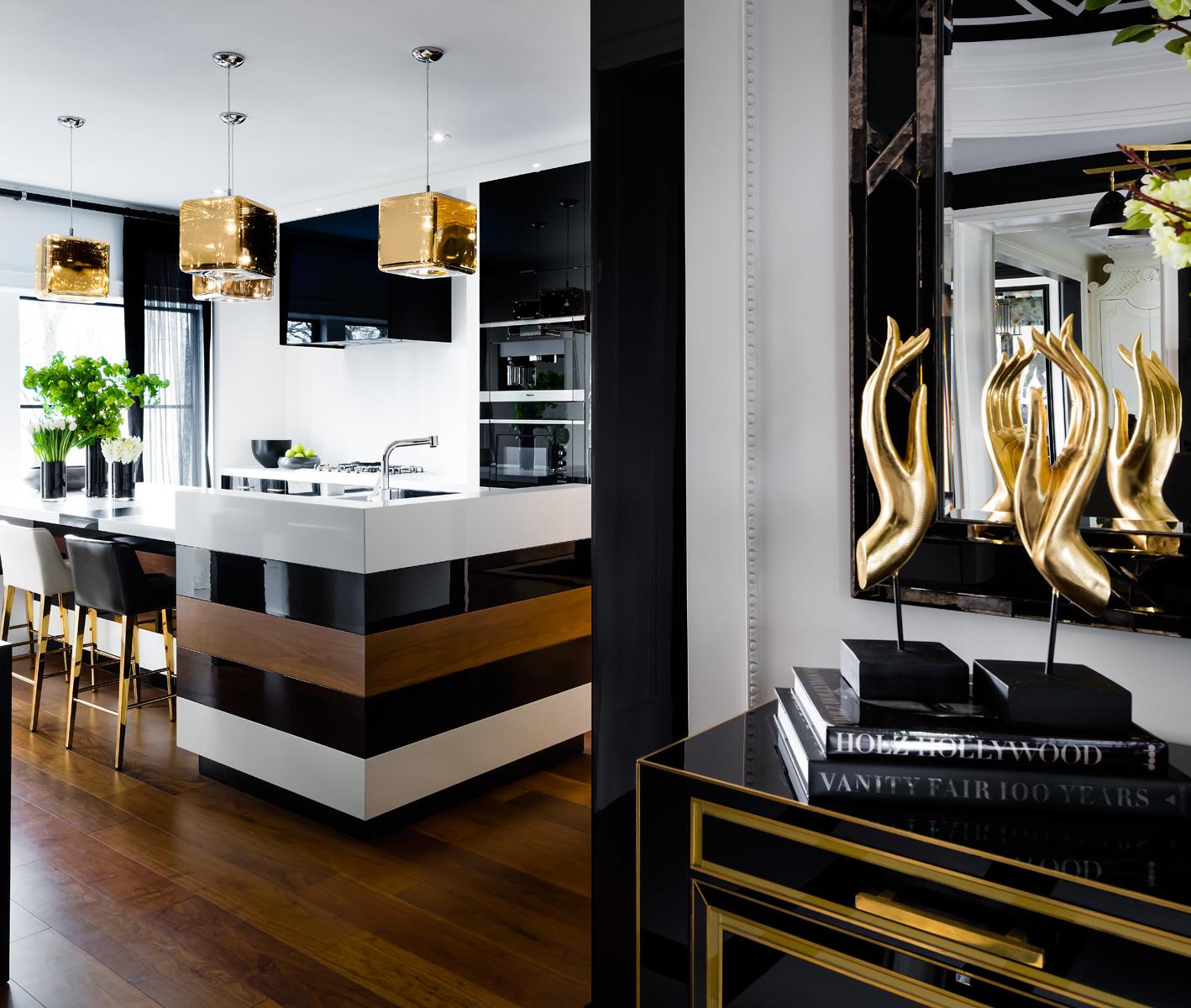 Modern Glam Kitchen
