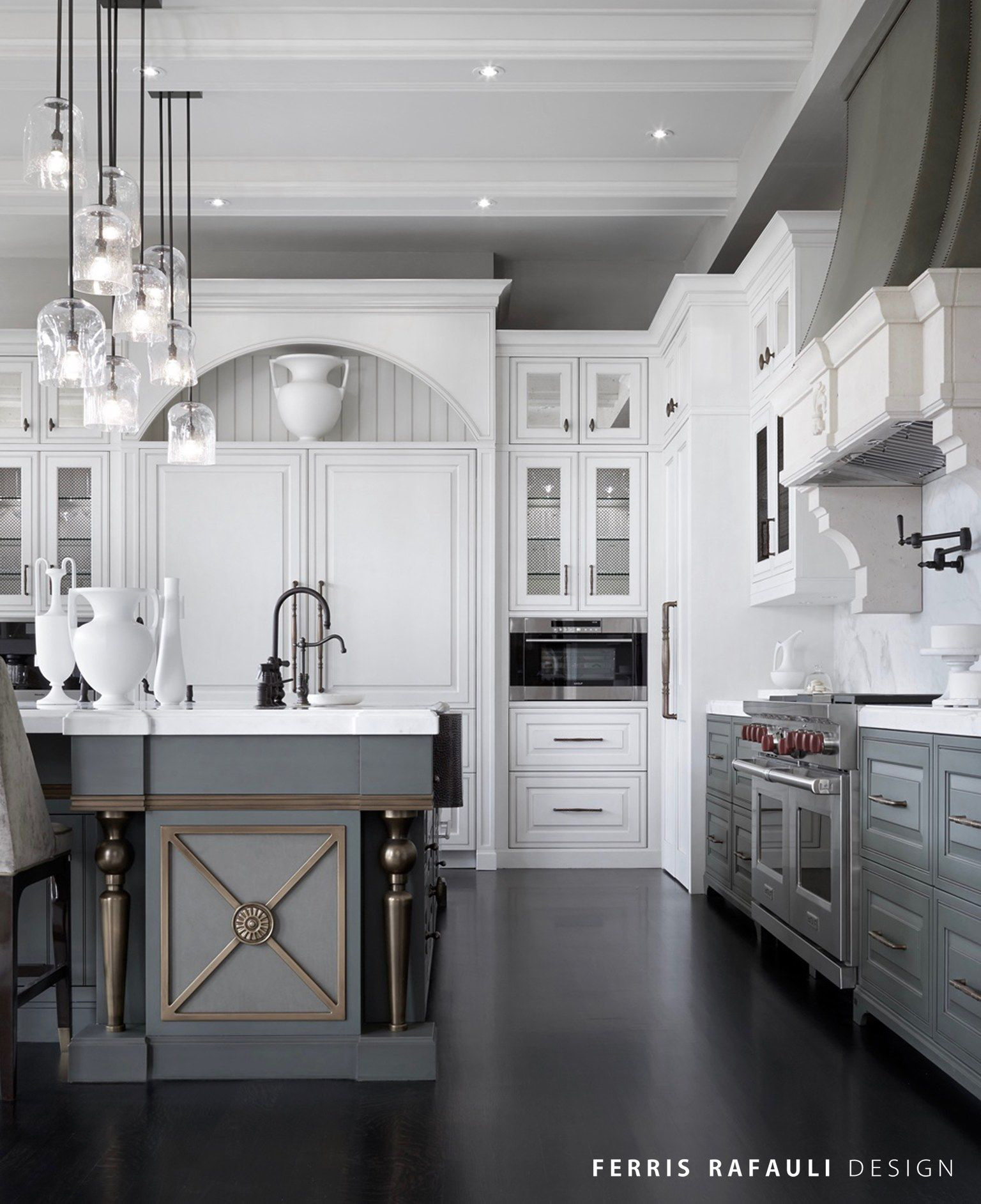 Modern Gray and White Kitchen