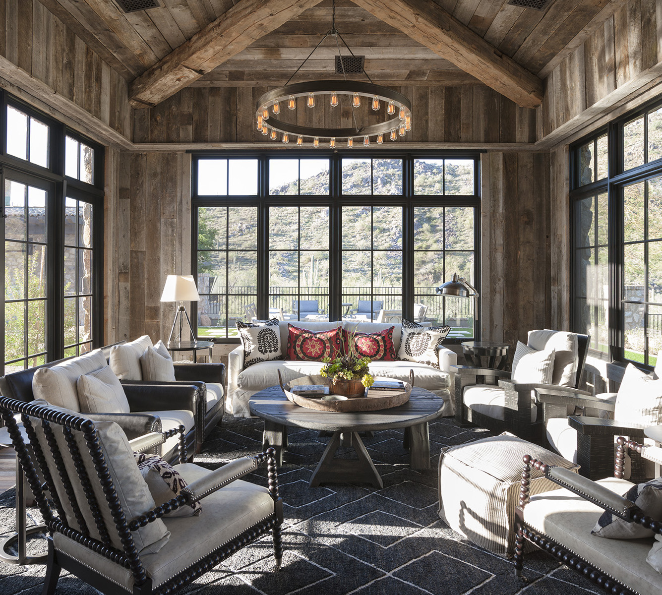 Rustic Eclectic Living Room
